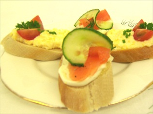 Open Sandwiches perfect for Business Lunches and Conferences